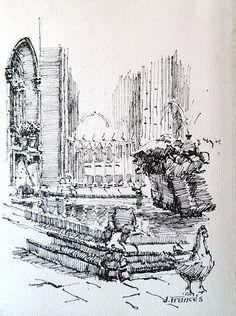 Barcelona cathedral cloister, Joaquim Francés