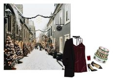 """Santa baby"" by constellvtion ❤ liked on Polyvore featuring Hollister Co., Valentino, Aromatique, Spode, Winter and Christmas"