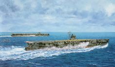 JIN Hiryu e JIN Soryu - Aircraft carriers- art of Takeshi Yuki