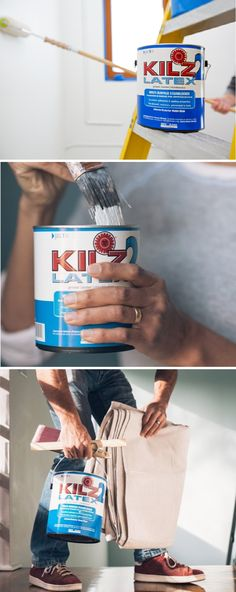 Home makeover projects can be time consuming. Before you start painting a piece of furniture or the walls in your home, try priming them with KILZ 2 LATEX. This multi-purpose primer, sealer, and stainblocker helps to seal porous surfaces, promote paint ad Ikea Furniture Makeover, Furniture Repair, Diy Painting, Painting Tricks, Ikea Kids Bedroom, Kitchen Caddy, House Makeovers, Stove Top Cover, Glass Jars With Lids