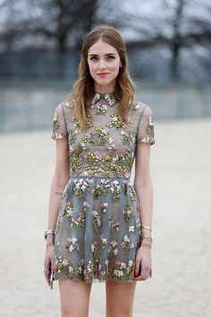 Cute embellished minidress.