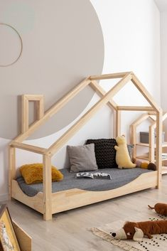 House Beds For Kids, Kid Beds, Bed Lights, Bed With Drawers, Simple House, Bed Sizes, House In The Woods, Bed Frame, Kids Bedroom