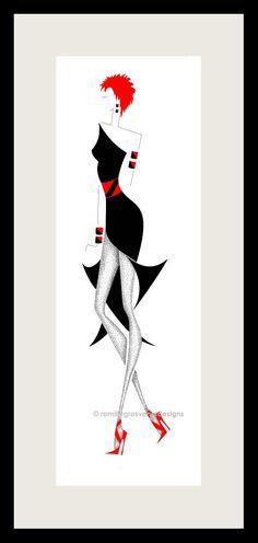 Art Fashion Illustration  Fashion Design  by ArtFashionByRomilly, £15.00