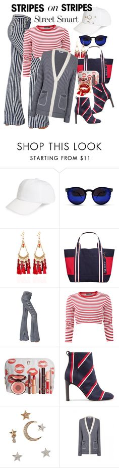 """salute!"" by daincyng ❤ liked on Polyvore featuring Treasure & Bond, Spitfire, Tommy Hilfiger, Sonia Rykiel, Dolce&Gabbana, Charlotte Tilbury, rag & bone, BCBGeneration, stripesonstripes and PatternChallenge"