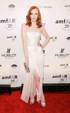 Karen Elson // Versace // amfAR NY Gala 2011
