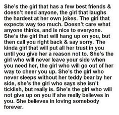 We're all the girl.