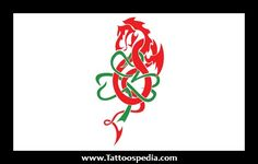 Welsh Flag Dragon Tattoo Related Keywords & Suggestions - Welsh Flag ...