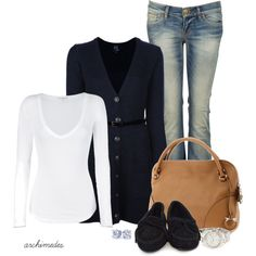 """Long Cardigan"" by archimedes16 on Polyvore"