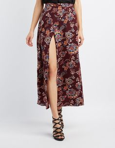 Floral Maxi Wrap Skirt | Charlotte Russe