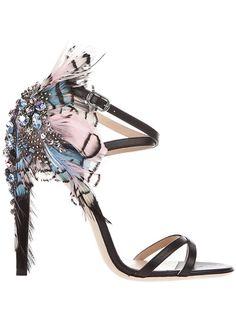Ballin Feather detail sandal    ╰☆╮ZPeacocks...╰☆╮ 