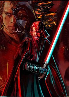 Artist Eli Hyder's 'The Chosen One' Anakin/Vader Crossover Design on Sale Now for Three Days - Star Wars News Net Anakin Skywalker, Anakin Vader, Vader Star Wars, Darth Vader, Star Wars Film, Star Wars Poster, Star Wars Pictures, Star Wars Images, Star Wars Concept Art