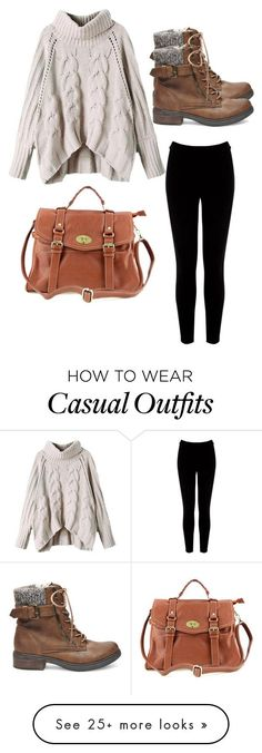 """Fall casual"" by mia-carr on Polyvore featuring Warehouse and Steve Madden"