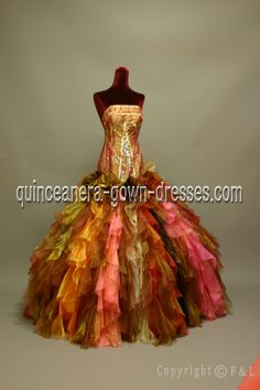 Discount Romantic Strapless Hot pink Colorful Quinceanera Dresses  91008