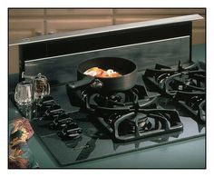 "Broan - Eclipse 36"" Telescopic Downdraft System - Stainless Steel - Larger Front"