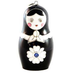 Black Enamel Svetlana Necklace