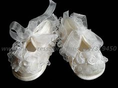 1x Free Shipping Lace Rose Baby Girl Christening Shoes Ivory Off White PInk Mary Janes Baptism Party Special Occasion Dress LY1 on AliExpress.com. $6.70