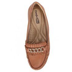 Sapato Mocassim Feminino Comfortflex - Pinhão