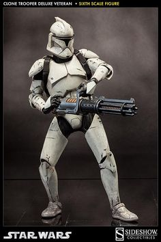 Star Wars Clone Trooper Deluxe: Veteran Sixth Scale Figure by Sideshow Collectibles Star Wars Film, Star Wars Baby, Star Wars Toys, Star Wars Clone Wars, Coleccionables Sideshow, Sideshow Star Wars, Sideshow Collectibles, Star Wars Characters, Star Wars Episodes