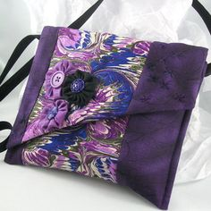 """Purple Violet and Radiant Orchid Quilted Purse by KathyKinsella, $58.00 Width 8.8"""" (22 cm) and Height 8"""" (20 cm) Strap: 3/4"""" (2cm) wide and 51"""" (130 cm) long"""