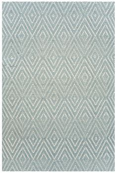 Dash & Albert Indoor/Outdoor Diamond Light Blue Ivory Rug