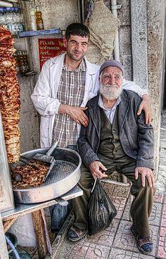 Dad and son in Mardin, Turkey.