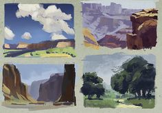 Some very quick (10 mins each?) Edgar Payne studies. I've been working my way through his book, Composition of Outdoor Painting, and I'm making a concerted effort to be more deliberate about how I study and use colour. The book is full of useful info so I recommend picking it up if you can find a copy.