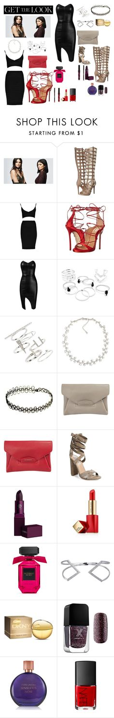 """The Sassy Look"" by breannanicolekidd ❤ liked on Polyvore featuring PacSun, Kendall + Kylie, Dsquared2, Posh Girl, Topshop, Carolee, Givenchy, Steve Madden, Lipstick Queen and Estée Lauder"