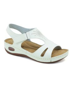 Look what I found on #zulily! White Cut-Out Pointelle Sandal #zulilyfinds