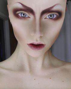 Beautiful alien makeup.