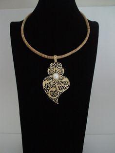 Portuguese necklace viana's heart necklace by ROYALcraftPT on Etsy