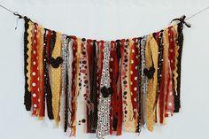 Hand-Tied Fabric Garland/Bunting  Room Decor by SnigglefritzandMe