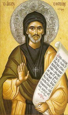 Santos, Beatos, Veneráveis e Servos de Deus: SANTO EFRÉM, O SÍRIO,  Diácono e Doutor da Igreja....