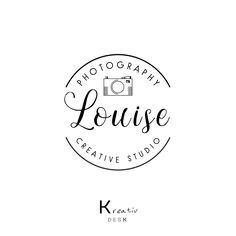Photographer Logo Design. Photography Logo. Camera Logo Design. Business Watermark Logo. Company Premade Logo. Circle Logo. Submark Logo by KreativDesk on Etsy