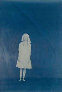 Emmeline Solomon | Storytelling  cyanotype, hand embroidery on...