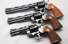 The Colt Python is widely considered to be one of the best revolvers ever made, it's also among the most collectible. Weapons Guns, Airsoft Guns, Guns And Ammo, Zombie Weapons, Colt Python, Armas Wallpaper, 357 Magnum, Cool Guns, Firearms