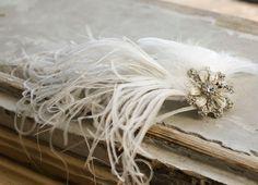 Bridal Hair Clip Old Hollywood / Something New by BridalHatsbyElla, £69.00