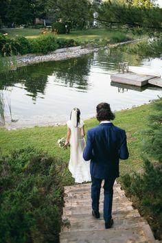 Backyard Ceremony l Bride and Groom