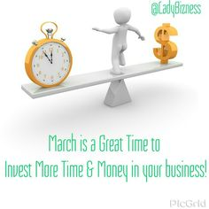March is a great time to invest more money and time in your Business! Book your one on one Power Marketing session today at www.LadyBizness.com.