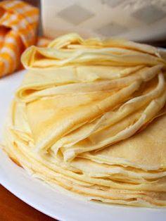 Crepes, My Favorite Food, Favorite Recipes, Tasty, Yummy Food, Polish Recipes, Eat Breakfast, Soul Food, Food Videos