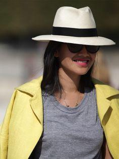 Street Style spécial chapeaux Camiseta Gris b03d8d0220f