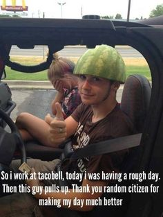 The girl is obviously his girlfriend who just begged him not to wear his stupid melon hat again.