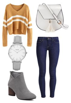 """""""Fall casual"""" by morganmaccc on Polyvore featuring Levi's, Yoki and Topshop"""