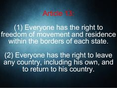 Human right to Freedom Of Movement, Cultural Diversity