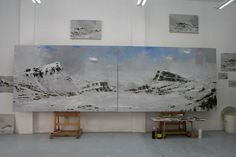 Calo Carratalá is an artist with a deep love for landscape, particularly snow covered mountain peaks Spanish Artists, Artworks, Contemporary, Studio, Painting, Inspiration, Biblical Inspiration, Painting Art, Studios