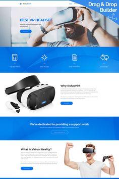 RufusVR - VR Startup Moto CMS 3 Template #65572