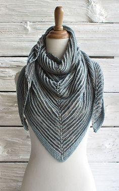 Free knitting pattern for Serena Shadow Shawl