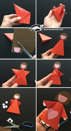 para crianças Read information on Origami Models Read information on Origami Models Paper Crafts For Kids, Arts And Crafts, Valentine Crafts, Valentines, Paper Folding Art, Origami Models, Handbag Patterns, Origami Paper, Paper Toys