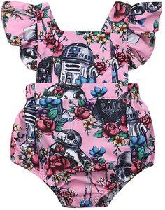 JRPONY Baby Girl Dress Star Wars Newborn Romper Floral Ruffle Princess Tutu Dress Sundress Summer