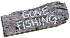 gone fishing sign Gone Fishing Sign, Fishing Signs, Fishing Humor, Fishing Poles, Pallet Board Signs, Wood Signs, Barn Wood, Rustic Wood, Shotgun Shell Crafts