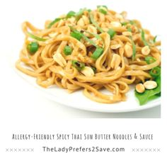 Allergy-Friendly Spicy Thai Sun Butter Noodles & Sauce